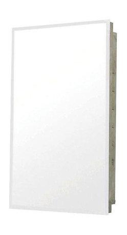 Pegasus - Pegasus 16 in. x 20 in. Recessed Medicine Cabinet in Silver (SP4591) - 16 in. x 20 in. Recessed Medicine Cabinet in Stainless Steel