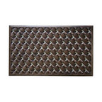 """A1 Home Collections - Rubber """"Check"""" Mat Copper Finish - This stylish doormat makes a perfect addition to any porch,patio area or door. Use this mat to catch dirt or as decoration."""