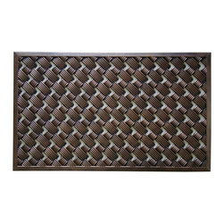 "A1 Home Collections - Rubber ""Check"" Mat Copper Finish - This stylish doormat makes a perfect addition to any porch,patio area or door. Use this mat to catch dirt or as decoration."