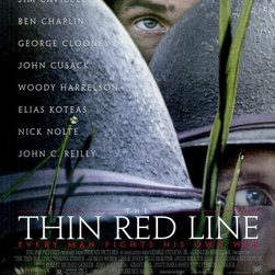 The Thin Red Line 27 x 40 Movie Poster - Style A - The Thin Red Line 27 x 40 Movie Poster - Style A Kirk Acevedo, Miranda Otto, Nick Stahl, James Caviezel, Adrien Brody, Sean Penn, Nick Nolte, John Cusack, George Clooney, Woody Harrelson, Ben Chaplin, Elias Koteas, Jared Leto, John Travolta, Tim Blake Nelson, John C. Reilly, John Savage, Arie Verveen, David Harrod, Thomas Jane, Paul Gleason, Penelope Allen, Don Harvey, Shawn Hatosy, Donal Logue, Dash Mihok, Larry Romano. Directed By: Terrence Malick. Written By: Terrence Malick. Cinematography By: John Toll. Music By: Hans Zimmer. TECHNICAL ADVISOR: Mike Stokey. Producer: Robert Michael Greisler, John Roberdeau, Grant Hill, George Stevens, 20th Century-Fox.