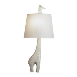 Robert Abbey Jonathan Adler Ceramic Giraffe Wall Sconce (Right Facing)