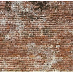 106.3 - Historic Brick Mural Wallpaper M8994 - Historic Brick is an old aged brick texture with a highly realistic look. Use it to create the raw industrial look of brick in your bedroom or dining room.