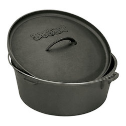 Bayou Classic - Bayou Classic 4-quart Cast Iron Dutch Oven - This Dutch oven features a cast iron construction. With a 4-quart capacity, this Dutch oven makes a great addition to any kitchen.