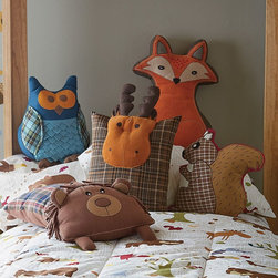 Woodland Animal Pillows - These forest animal pillows are all so cute that I'd have trouble choosing just one!