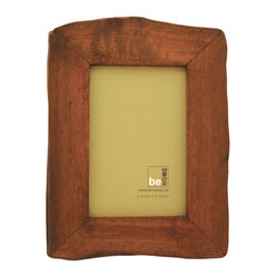 Be Home - Reclaimed Wood Red Frame, 4 X 6 - Handmade from reclaimed wood, this rustic picture frame boasts a lovely red tint and a unique, organic shape. Wouldn't it be great for informal shots and pictures taken in a natural setting?
