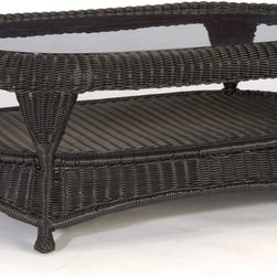 Classic Wicker Coffee Table - As a part of your wicker resin patio furniture, this attractive coffee table pairs well with our wicker outdoor sofa sets.