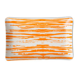 Michael Devine Ltd. - Thomas Cellphone Tray, Tangerine - Beautiful hand silk screened Michael Devine fabric is skillfully laminated to create each delightful and useful piece.  The Thomas cellphone tray is incredibly useful for keeping track of the phone or jewelry.