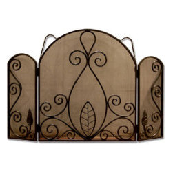 Fireplace Screens and Accessories - Hand forged iron fireplace screen