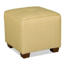Sam Moore Karly Cube - Citrine - Use the Sam Moore Karly Cube - Citrine as a footstool, extra seat, or casual table. It has a handsome citrine yellow, geometric pattern with tailored welt trim and handsome squared feet.About Sam MooreSince 1940, Sam Moore's hand-crafted upholstered furniture has offered extraordinary quality, comfort, and style. This Bedford, Virginia-based company proudly crafts its products right here in the USA. From classic to transitional to contemporary styles, Sam Moore takes time with every detail, making sure each piece is something you'll appreciate in your home.