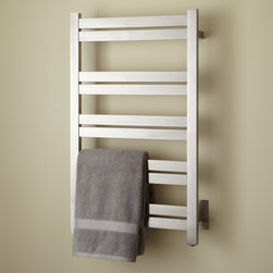 "20"" Brenton Extra-Tall Hardwired Towel Warmer - For large bathrooms and master bath suites, this 20"" Brenton Towel Warmer features an accommodating size with 10 rails for keeping towels warm."