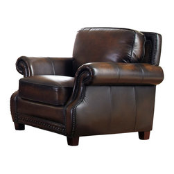 Vintage Classics-Lazzaro - Vintage Furniture Classics - Leather | Luke Hand Antiqued Leather Chair, Without - Luke sofa is a beautiful traditional classic chair as you will ever see. It is shown with a hand rubbed antiqued brown leather. Beautiful detail of the traditional Warner roll arms and hand placed nail trim come together for a truly luxurious feel. The frames are built from solid Birch hardwoods that are kiln dried to keep any moisture out. The frames are corner blocked and glued together for a more cohesive finish. Leggett & Platt sinuous springs come together using woven elastic straps that will keep them from moving around. The cushions for seating will give you the right mixture of softness and firmness. The cushions in the back use channeled blown fiber to keep give them consistency.