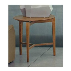 Calligaris - Symbol Wooden Round End Table - Wooden coffee table with a round top and three-leg frame suitable for living areas. Owes its distinctive look to the top which appears to be suspended above the frame. Assembly required. 19.75 in. W x 19.75 in. D x 19.75 in. H