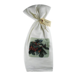 Cherry Branch    Flour Sack Towel  Set of 2 - A fabulous set of 3 flour sack towels. This set features a wonderful antique botanical print of a Cherry Branch with a Butterfly.   These towels are printed in the USA by American Workers!