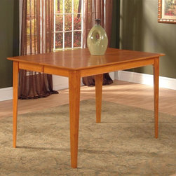 Atlantic Furniture - Montreal Pub Table in Solid Hardwood (39 in. - Finish: 39 in. W x 39 in. L - Caramel LatteMontreal Collection. 100% Solid eco-friendly hardwood. Mortise and tenon joinery. Finished with high build 5 step finishing process. Pictured in Caramel Latte finish. 1-Year warranty. 39 in. L x 39 in. W x 36 in. H. 48 in. L x 36 in. W x 36 in. H. 60 in. L x 36 in. W x 36 in. H. 60 in. L x 42 in. W x 36 in. H. 54 in. L x 54 in. W x 36 in. H. 78 in. L x 42 in. W x 36 in. HAtlantic Furniture's Montreal Dining and Pub Tables boast modern tapered legs to give your room a clean and edgy atmosphere. Exceptional craftsmanship and high quality materials mean that you can feel confident that your purchase will last for years to come.