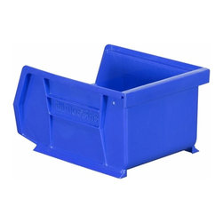 "Akro-Mils - Blue Stackable Storage Bins, 5.5""- Set of 24 - AkroBins optimize your storage space. Control inventories, shorten assembly times and minimize parts handling. Heavy-duty polypropylene bins hang from Akro-Mils racks, panels, rails, and carts; securely stack atop each other and sit on shelving. AkroBins are unaffected by weak acids and alkalis. Sturdy, one-piece construction is water, rust and corrosion proof and guaranteed not to break. Autoclavable up to 250Degrees F."