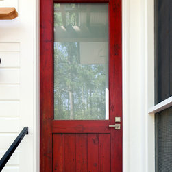 """Sall Doors I - Made to look 100 years old, but actually made in 2013, of poplar solids. Sticking, panels, and 1/8"""" tempered Neo-Restoration glass."""