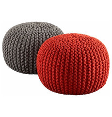 contemporary ottomans and cubes by CB2