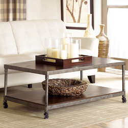 "Hammary - Structure Rectangular Cocktail Table in Heavily Distressed Brown Finish - ""There is beauty in simplicity. And seldom does furniture possess more effortless beauty than Hammary's new """"Structure"""" collection."