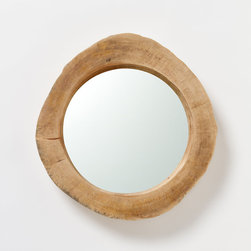 Tree Trunk Mirror - Check your hair or makeup in this gorgeous natural mirror before heading out the door.