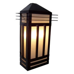 Maxim Lighting - Maxim Lighting 8724PRBU Gatsby 3-Light Outdoor Wall Lantern in Burnished - Gatsby is a traditional, craftsman/mission style collection from Maxim Lighting International in two finishes, Burnished or Pewter, with Prairie Rib Frost glass.
