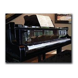"""Encore 9x12 Print - """"Encore"""" is a canvas giclee depicting a grand piano by Denard Stalling.  This 9x12 canvas is gallery wrapped. We take the fine art canvas and stretch it over a wooden frame, adhering the canvas to the backside of the frame. The canvas actually wraps around the edges of the frame, giving your print the look of a fine piece of art, such as you might find in an art gallery. There is no need for a picture frame. Your piece of art is ready to hang or lean against a wall, or display on an easel."""