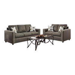 Chelsea Home Furniture - Chelsea Home Talbot 2-Piece Living Room Set in Vivid Onyx - Talbot 2-Piece Living Room Set in Vivid Onyx belongs to the Chelsea Home Furniture collection