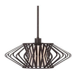 "Possini Euro Zodiac 20"" Wide Bronze Pendant Light -"