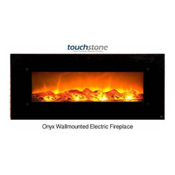 "Touchstone Home Products - Touchstone Home Products Electric Fire Place - The Touchstone Onyx is a beautiful, 50"" wide, electric fireplace with realistic flames and contemporary black frame that will make a strong design statement in your living room, family room or any room in your home. The electric fireplace delivers the beauty of a fireplace without the fire and smokey smell. The Onyx has 2 heat settings (high and low), and will heat a room up to 400 sq. ft.. Also, the fireplace's flame can can be used without the heating feature."