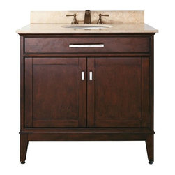 "Avanity - Avanity Madison 36 Vanity Cabinet Only, Light Espresso (MADISON-V36-LE) - Avanity MADISON-V36-LE Madison 36"" Vanity Cabinet Only, Light Espresso"