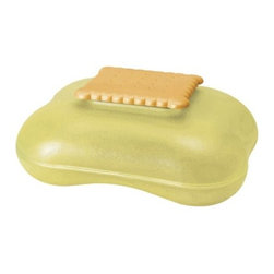 Alessi - Mary Biscuit by Alessi - You know what's inside just by looking at it. The Alessi Mary Biscuit is a large biscuit/ cookie box that is shaped like what it's keeping fresh within. Made out of translucent PMMA plastic, it has a soft, rounded form topped by a biscuit-shaped figure. A truly delectable design by Stefano Giovannoni. Alessi, known as the Italian design factory, has manufactured household products since 1921. The stylish and fun items offered are the result of contemporary partnerships with some of the world's best designers of unique and modern home accessories.