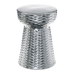 Cyan Design - Chrome Cone Stool - Chrome cone stool - chrome
