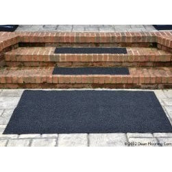 """Dean Flooring Company - Dean Indoor/Outdoor Non-Skid Carpet Stair Treads - Black - 36"""" x 9"""" (3) Plus Mat - Dean Indoor/Outdoor Non Skid Carpet Stair Treads - Black - 36"""" x 9"""" (Set of 3) Plus a Matching 3' x 5' Landing Mat : Heavy Duty Indoor/Outdoor Non-Skid Walk-Off Carpet Stair Treads by Dean Flooring Company. Color: Black Face: 100% Hi UV stabilized polypropylene fiber. Backing: All weather non-skid latex rubber. Edges: Will not ravel or delaminate. Size: 36"""" x 9"""" each. Each set includes three stair treads and a matching 3' x 5' landing mat. Fade resistant. Commercial or residential. Helps prevent slips on your stairs. Great for helping your dog easily navigate your slippery staircase. Reduces noise. Reduces wear and tear on your stairs. Easy to clean (hose off, sweep, vacuum, spot clean). Attractive: adds a fresh new look to your staircase. Easy DIY installation with heavy duty indoor/outdoor double sided carpet tape (not included - sold separately). Made in the USA! Add a touch of warmth and style to your home today with stair treads from Dean Flooring Company!"""