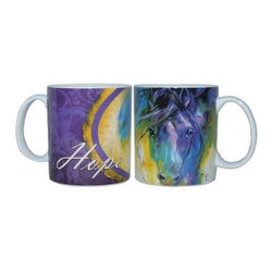 "Westland - 4 Inch Marcia Baldwin Abstract Blue Roan ""Hope"" Ceramic Mug, 14 Oz. - This gorgeous 4 Inch Marcia Baldwin Abstract Blue Roan ""Hope"" Ceramic Mug, 14 oz. has the finest details and highest quality you will find anywhere! 4 Inch Marcia Baldwin Abstract Blue Roan ""Hope"" Ceramic Mug, 14 oz. is truly remarkable."