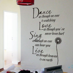 ColorfulHall Co., LTD - Decals For Walls Dance Love Sing Live - Decals For Walls Dance Love Sing Live
