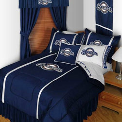 "MLB Milwaukee Brewers Bedding and Room Decorations - Whether game day or a regular night's sleep, make your room shout ""A true Milwaukee Brewers fan lives and sleeps here!"" We have a wide range of bedding and room decor products that will make quite an impression. Click the link below to view all items available for purchase."