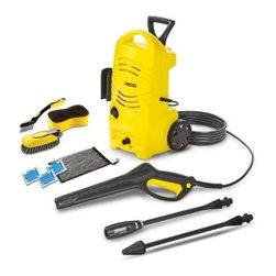 "Karcher North America - 1600Psi Pressure Washer Carcare Kit - Pressure washer is light weight with minimal storage requirements, certified for safety by CSA International, perfect for condos, townhomes and urban neighborhoods. Specs: 120 V/60 Hz, operating pressure 1600 PSI, water volume 1.3 GPM, direct-drive axial   pump, maximum water inlet temp 104 degrees F, weight (w/o accessories) 14 lbs, dimensions 10"" Lx12"" Wx 20"" H. Includes: 20 ft. high pressure hose, accessory bag, bayonet trigger gun with child safety lock, bristle brush, detergent injector, spray wand, du  al purpose sponge, soap pac sample, soft clean wash brush, variable power spray wand, wheel rim brush.      This item cannot be shipped to APO/FPO addresses.  Please accept our apologies"
