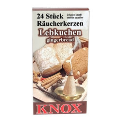 """Alexander Taron - Knox Large Incense - Gingerbread Scent - Unit of 24-pieces -5""""H x 2.5""""W x 0.75""""D - Gingerbread-scented incense for burners."""