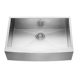 Vigo Industries - 32 in. Farmhouse Stainless Steel Kitchen Sink with Grid - Includes stainless steel kitchen sink, grid and strainer.