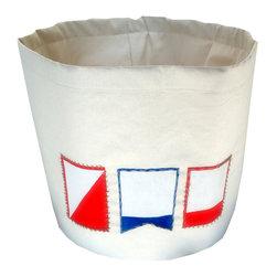 Mayenne Maison - Mayenne Maison Nautical Canvas Bucket, Small (14 X 15) - Shell :100%Canvas Duck Cloth.