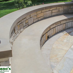 Hardscape - Natural stone and brick can compliment each other beautifully.