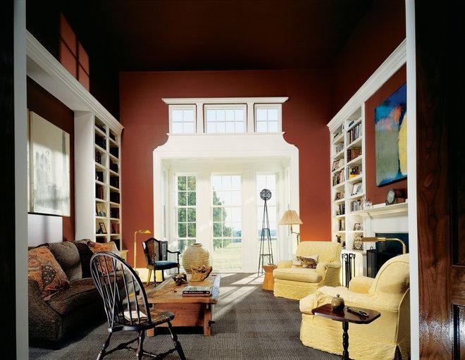 Farmhouse Living Room by Ike Kligerman Barkley