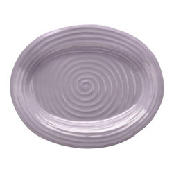 Portmeirion - Sophie Conran Mulberry Medium Oval Platter - 531659 - Shop for Plates and Dishes from Hayneedle.com! About PortmeirionStrikingly beautiful eminently practical refreshingly affordable. These are the enduring values bequeathed to Portmeirion by its legendary co-founder and designer Susan Williams-Ellis. Her father architect Sir Clough Williams-Ellis was the designer of Portmeirion the North Wales village whose fanciful architecture has drawn tourists and artists from around the world (including the creators of the classic 1960s TV show The Prisoner). Inspired by her fine arts training and creation of ceramic gifts for the village's gift shop Susan Williams-Ellis (along with her husband Euan Cooper-Willis) founded Portmeirion Pottery in 1960. After 50+ years of innovation the Portmeirion Group is not only an icon of British design but also a testament to the extraordinarily creative life of Susan Williams-Ellis.The style of Portmeirion dinnerware and serveware is marked by a passion for both pottery manufacturing and trend-setting design. Beautiful tactile nature-inspired patterns are a defining quality of Portmeirion housewares from its world-renowned botanical designs modeled on antiquarian books to the breezy natural colors of its porcelain and earthenware. Today the Portmeirion Group's design legacy continues to evolve through iconic brands such as Spode the Pomona Classics collection and the award-winning collaboration of Sophie Conran for Portmeirion. Sophie Conran for Portmeirion:Successful collaborations have provided design inspiration throughout Sophie Conran's life. Her father designer Sir Terence Conran and mother food writer Caroline Conran have been the pillars of her eclectic mix of cooking writing and interior design. In pairing with the iconic British housewares brand Portmeirion Conran has created another successful collaboration: Sophie Conran for Portmeirion an award-winning collection of dinnerware serveware and drinkware for the prac