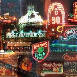 Giesla - ''Night Minneapolis'' 11  x 14  Print - 'Night Minneapolis'' 11 x 14 Gallery  Wrapped  Canvas Giclee by Giesla