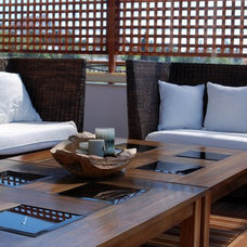 Eclectic Porch lounge furniture