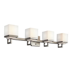 Kichler Lighting - Kichler Lighting 45140NI Metro Park Brushed Nickel 4 Light Vanity - 4, 60W Candelabra