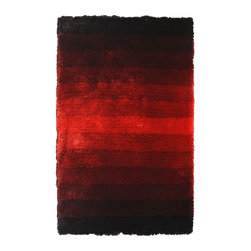Noble House - Noble House Jewel Collection Rug in Black / Red - 8x11 - Developed in the rainbow effect in prevailing trendy color hues, this collection compliments the modern interior d??cor. Furry feel polyester yarn used to articulate these rugs.