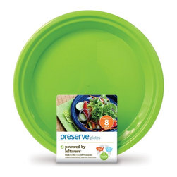 "Large On The Go Plates | 8 Count - The next time you throw a party or plan a picnic, consider On the Go plates. They are lightweight and festive but can also last""and last. We designed them to be dishwasher safe and withstand hundreds of uses. Unlike typical plastic dishware, they won""t crack, warp or break."