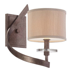 Savoy House - Savoy House 9-4432-1-285 Luzon 1 Light Left Sconce - Inspired by classic iron chandeliers, this transitional collection puts a fresh twist on a timeless design. Luzon has a rich Antique Nickel finish, Champagne shades and gleaming K9 crystal accents.