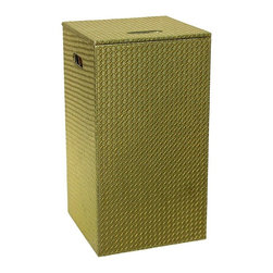 Gedy - Gold Laundry Hamper and Stool of Faux Hamper - Keep your bath looking contemporary & modern with this luxury floor standing hamper from the Gedy Marrakech collection.