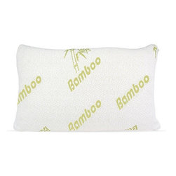Selectavite - Memory Foam Pillow With Hypoallergenic Bamboo Cover - Bamboo Pillows are filled with the highest quality shredded memory foam. The outer soft cover is made of soft bamboo fiber encased in a soft, bamboo fabric. Bamboo Pillows are made to conform and cradle your head and neck, relieving most common sleeping problems such as tension and stiffness, promoting a more comfortable and better night's sleep. With your head and neck properly supported this will help to prevent common disorders such as: TMJ, neck stiffness, asthma, snoring, insomnia, and migraines. These quality pillows also have a life span of 10 years and are dust mite resistant! Cover is washable.